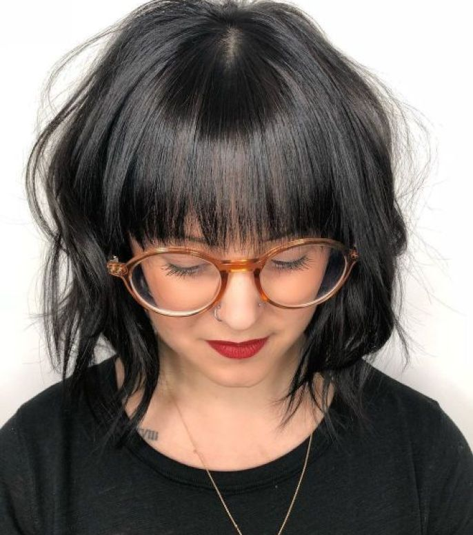 Wavy-Bob-with-Bangs A-Line Bob Hairstyles with Bangs for Flattering Looks