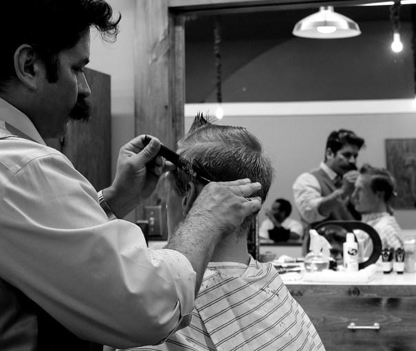 cutting hair at home