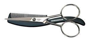 Mens by Tweezerman Moustache Scissors with Comb