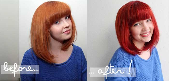 Garnier Olia 660 Light Intense Auburn Hair Colar And