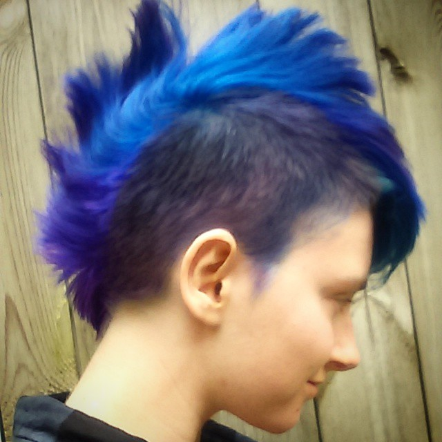 Punk Hair For Men Hair Colar And Cut Style