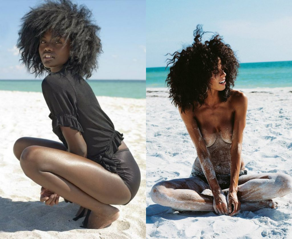 beach afro hairstyles for black women