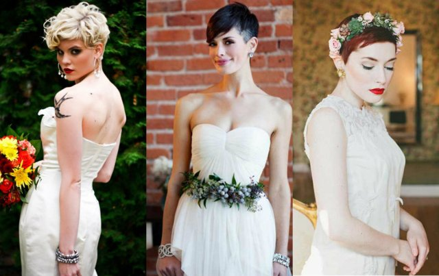 short pixie wedding hairstyles to inspire all brides