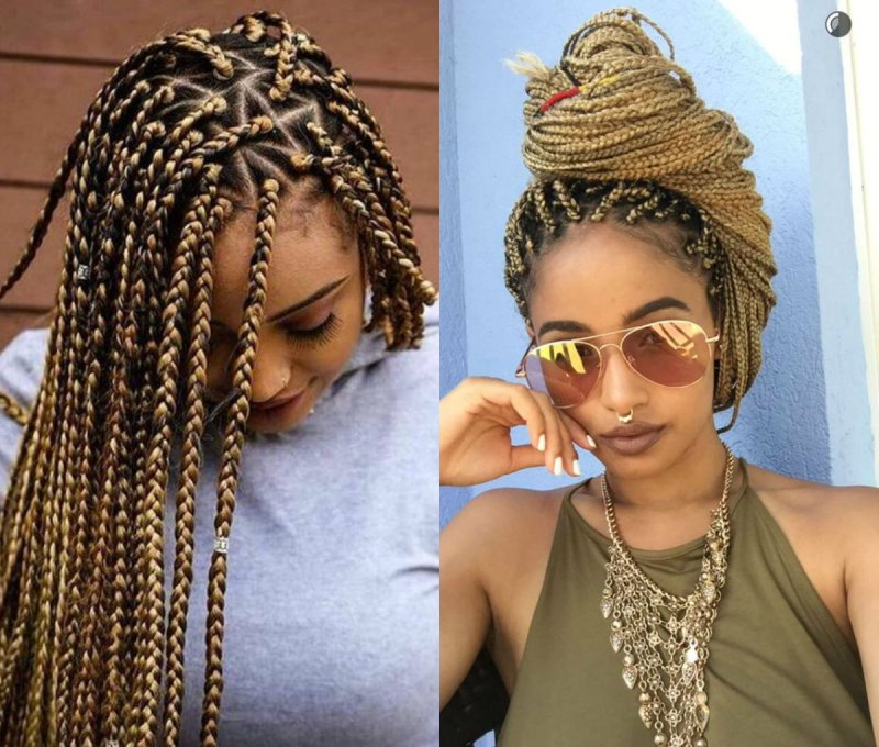How to box braid hair with extensions howsto spectacular long box braids hairstyles 2017 hairdrome com pmusecretfo Gallery