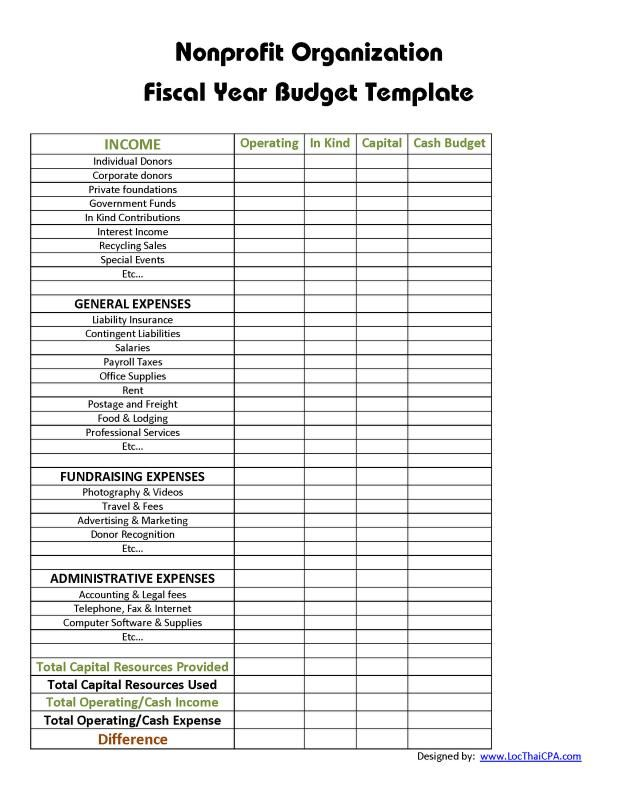 We may receive financial compensation when you click on links and are a. Non Profit Organization Budget Template Template Creator