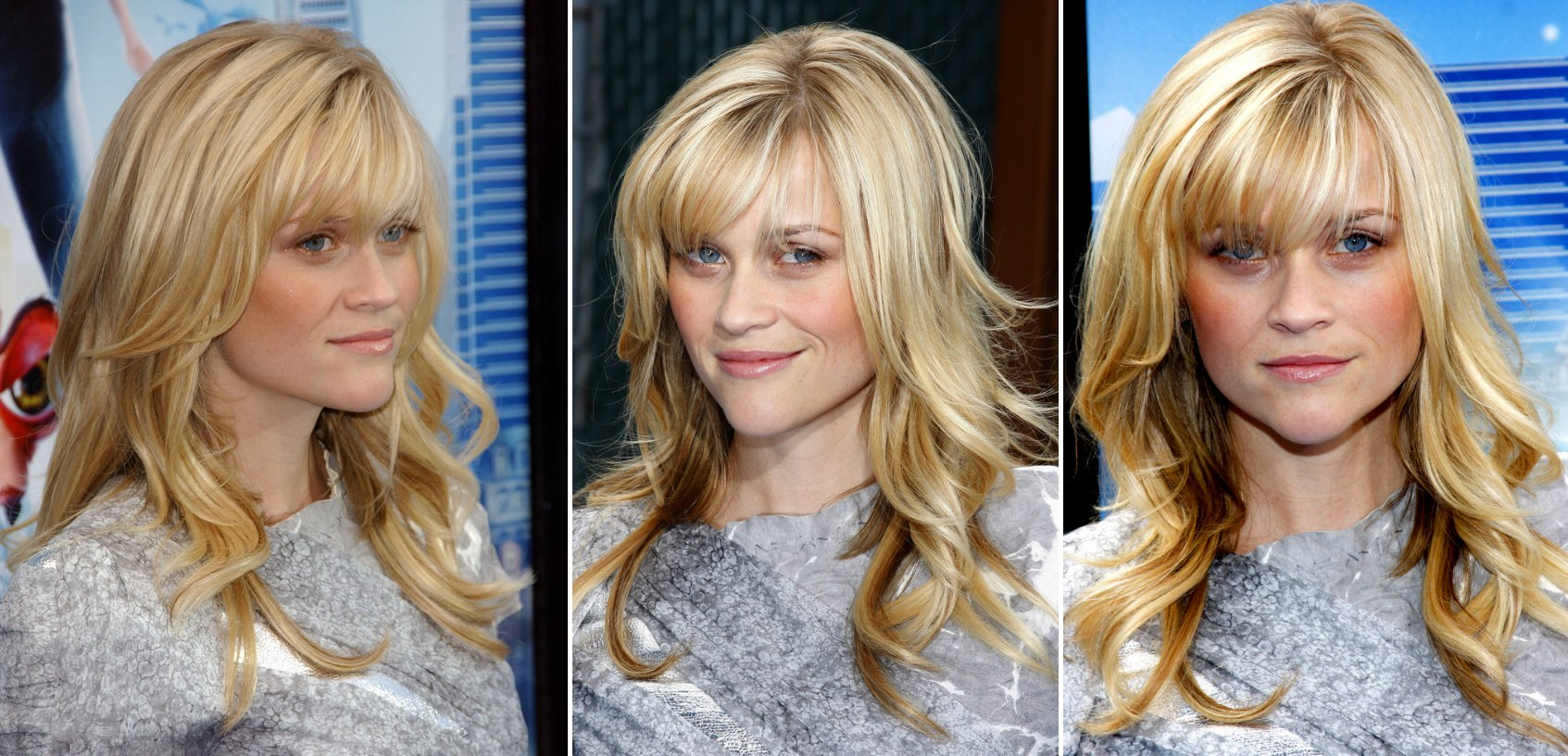 Reese Witherspoon's Hair With Over The Brows Bangs And
