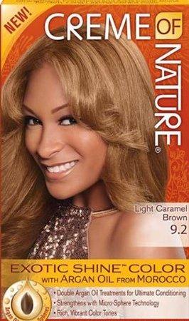 Creme of Natural Argan Light Caramel Brown Dye 9.2