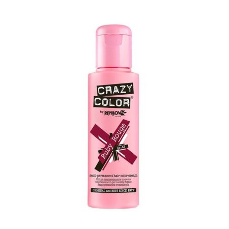 Crazy Color Semi Permanent Hair Colour Cream Ruby Rouge 100ml