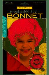 M477AST Kids Coloured Satin Bonnet