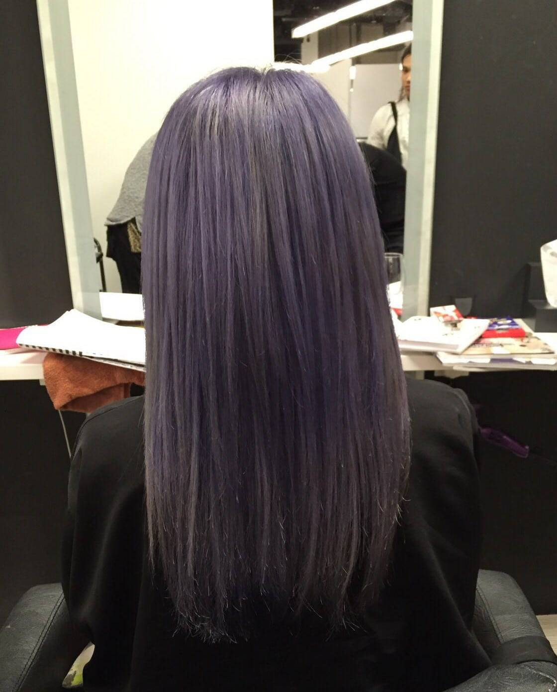 purple grey balayage hairloom salon