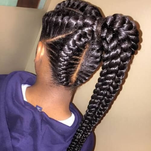 Image result for goddess braids hairstyles you should try