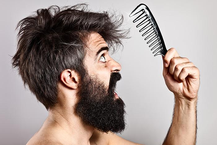Stress related hair loss in men