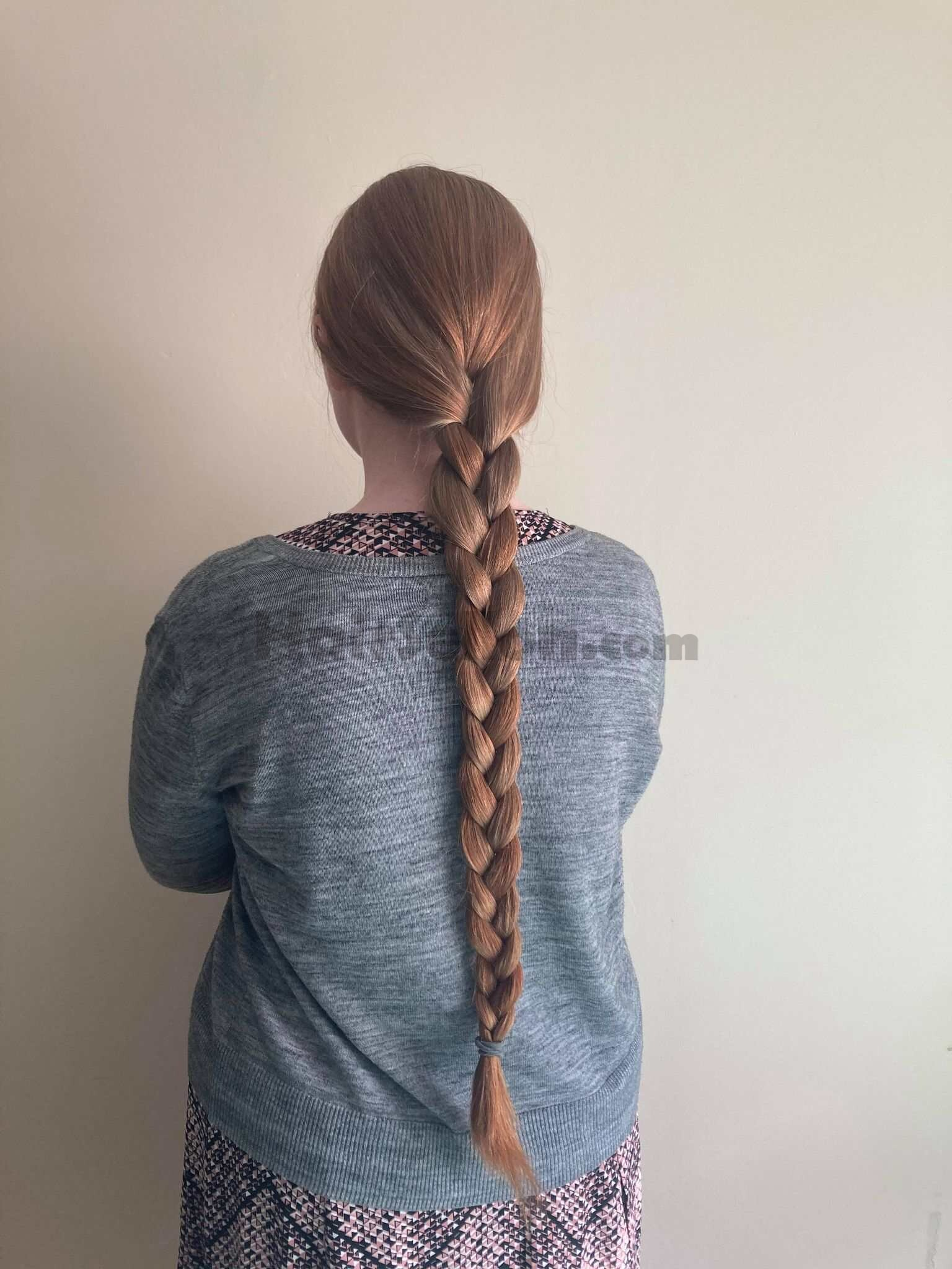 single braid; only natural light