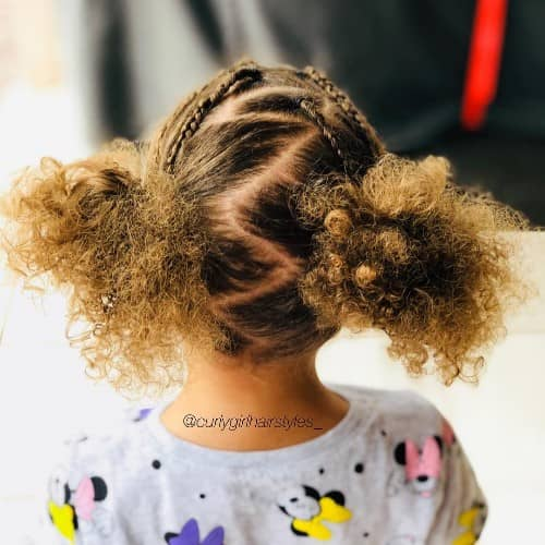 ZIGZAG LINE BRAID HAIRSTYLES FOR CURL