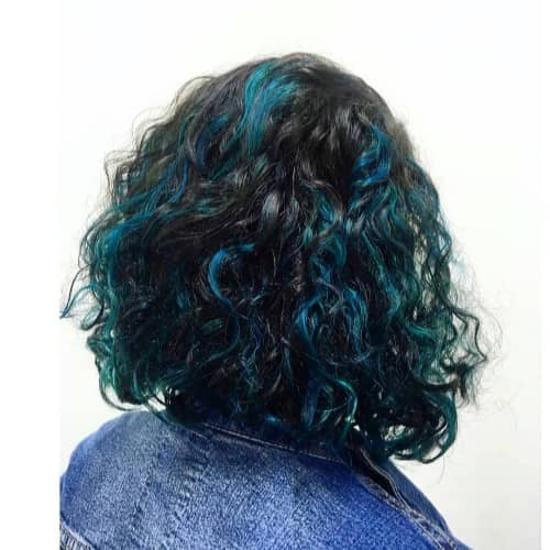 sexy curly hair color ideas