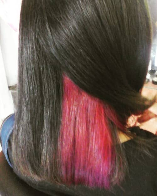 TWO COLORS OMBRE UNDERNEATH