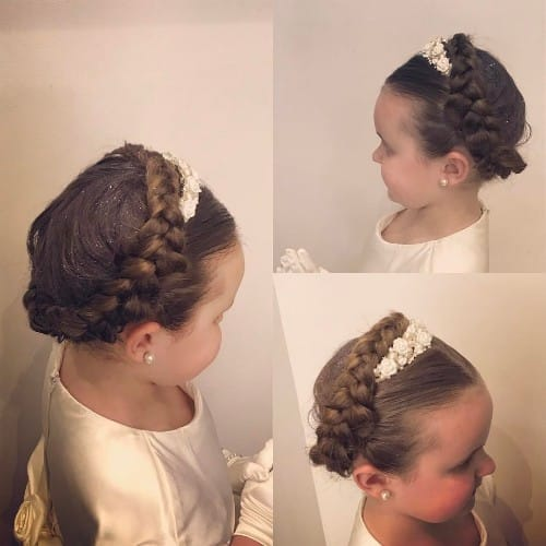 Crown Braid Hairstyle For 2-4 Years Toddler