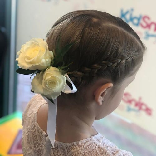 French Crown Braid For Kids With Short Hair