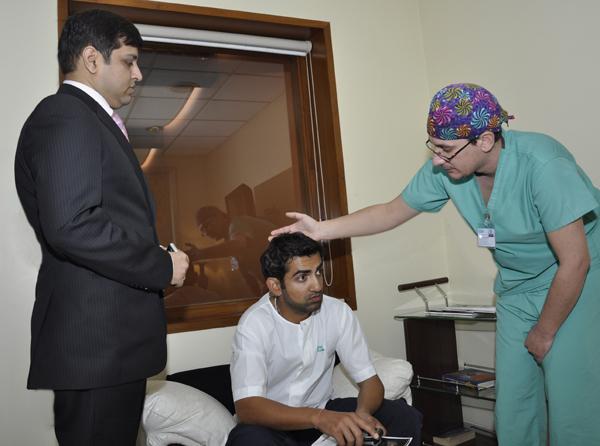 Gautam Gambhir Celebrity Cricket Player Hair Transplant