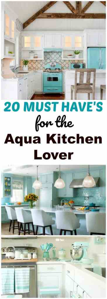 Aqua Kitchen Decor | Retro Aqua Kitchen Decor Lover 20 Must Have Items