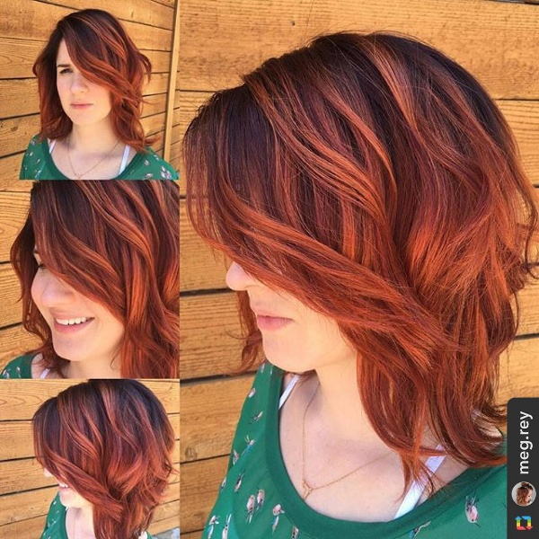 25 Red And Black OmbreHighlights Hair Color Ideas
