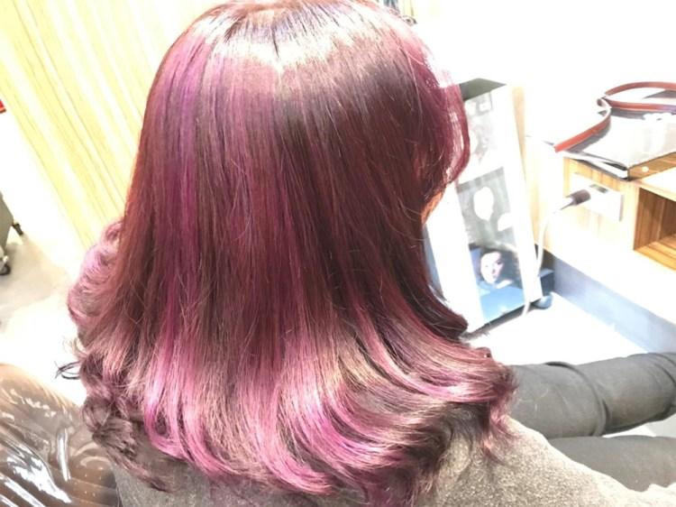 『2018紫外光染髮』中長髮染髮作品