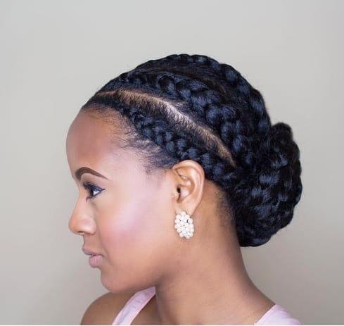 cornrows with nigerian braids