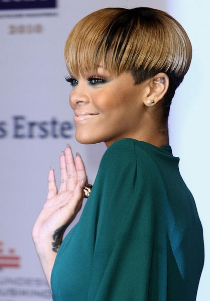 rihanna bowl cut