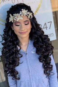 flower hair accessory glam