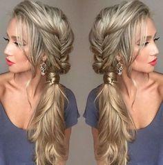 pretty ponytail braid side