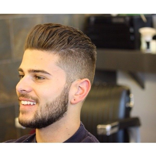 28 High Low Fade Hard Part Textured Quiff