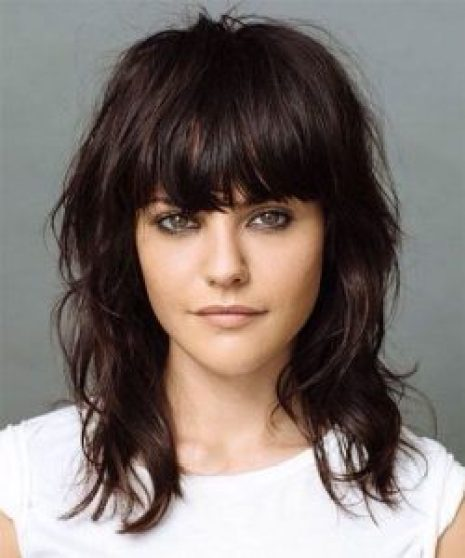 Hairstyles For Round Face Women Bangs