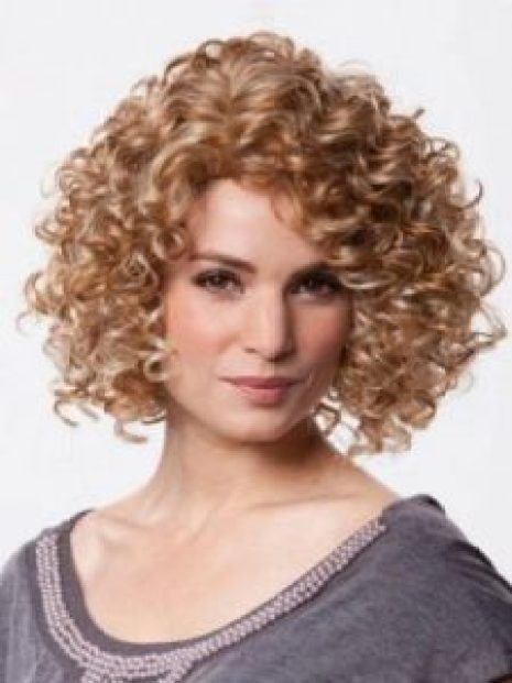 Women Over 40 curly bob