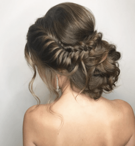 Prom Hairstyles Trending on Instagram   Woven Fishtail Bun   Hairstyle on Point