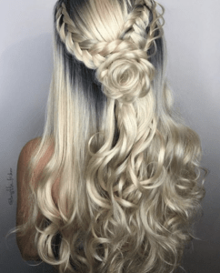 Prom Hairstyles Trending on Instagram   Rose Braid   Hairstyle on Point