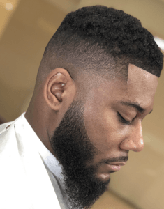 16 Must-Try Hairstyles For Black Men | High Fade with a Beard | Hairstyleonpoint.com