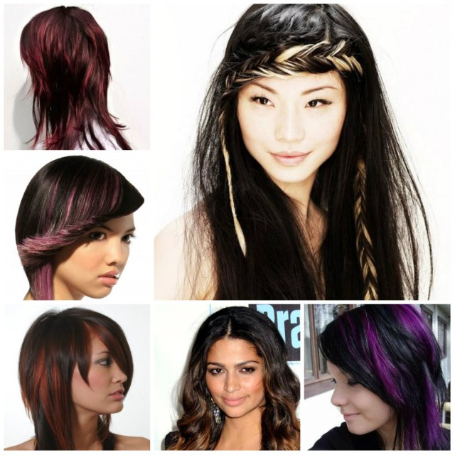 black hairstyles with trendy highlights 2016 | 2019 haircuts