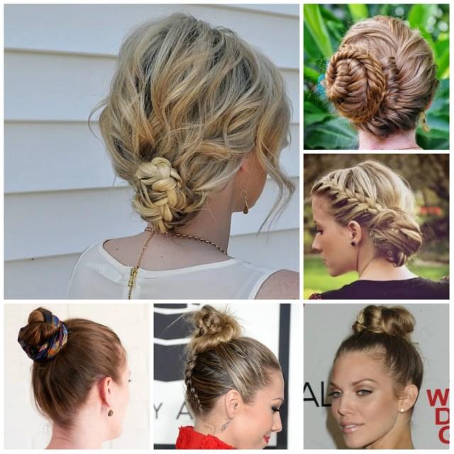 cute braided bun hairstyles 2016 | 2019 haircuts, hairstyles
