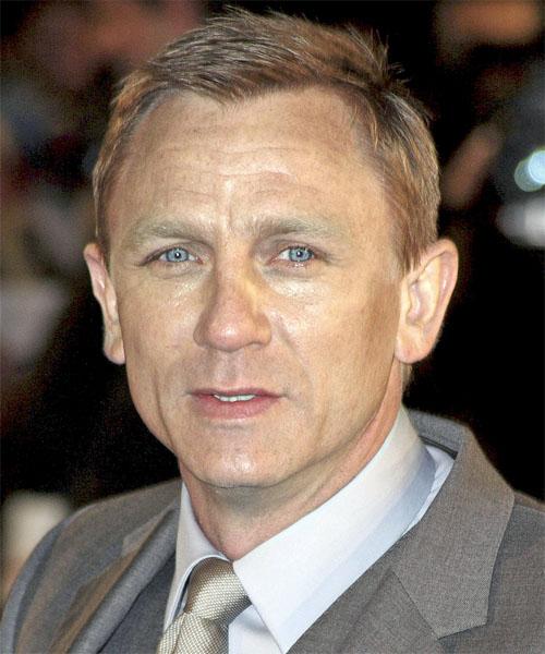 Daniel Craig Formal Short Straight Hairstyle