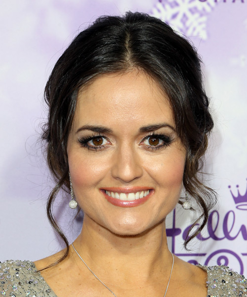 Danica McKellar Long Curly Formal Wedding Updo Hairstyle