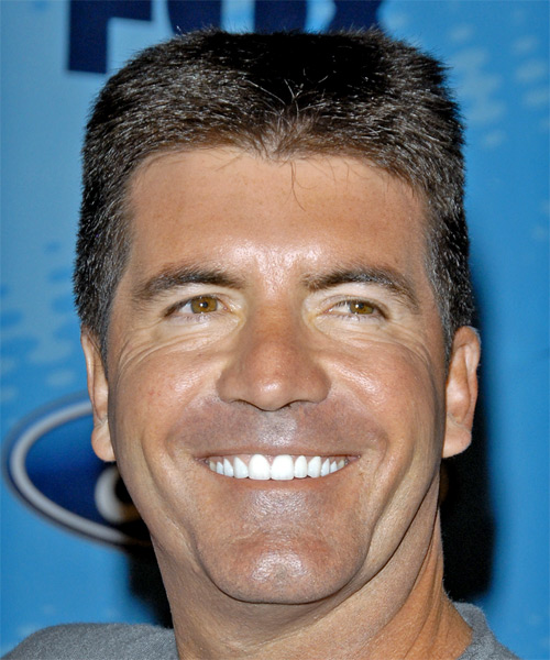 Simon Cowell Casual Short Straight Hairstyle