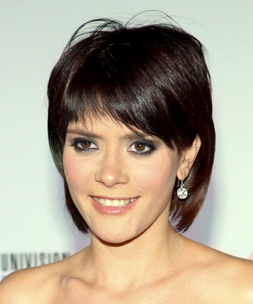 Kany Garcia Medium Straight Casual Hairstyle