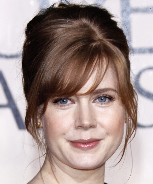 Amy Adams Formal Long Straight Updo Hairstyle