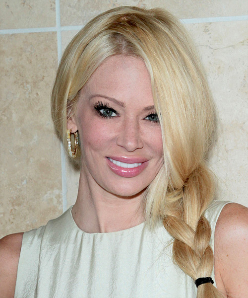 Jenna Jameson Long Curly Casual Braided Updo Hairstyle