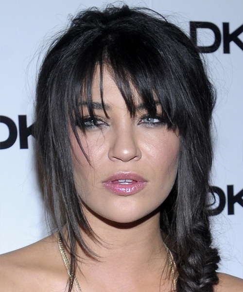 Jessica Szohr Casual Long Curly Updo Hairstyle With