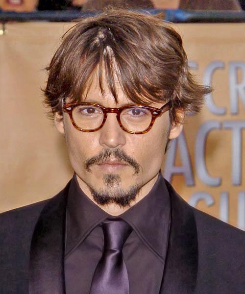 Johnny Depp Short Wavy Casual Hairstyle