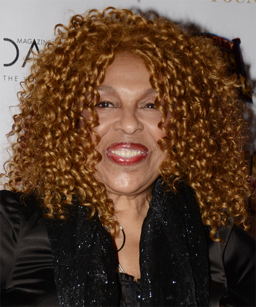 Roberta Flack Medium Curly Casual Hairstyle Dark Caramel