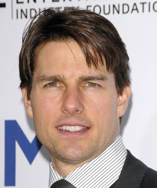 Tom Cruise Short Straight Casual Hairstyle Ash Brunette