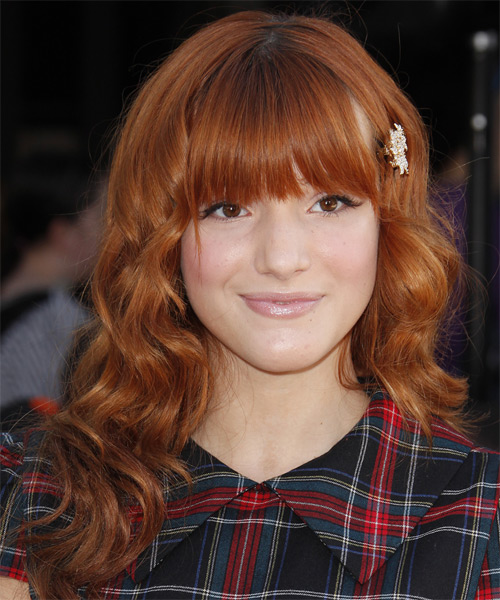 Bella Thorne Long Wavy Formal Hairstyle With Blunt Cut