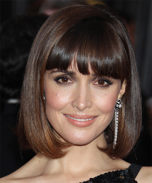Rose Byrne Medium Straight Formal Bob Hairstyle With Blunt
